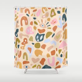 Abstract Paper Cuts Shower Curtain