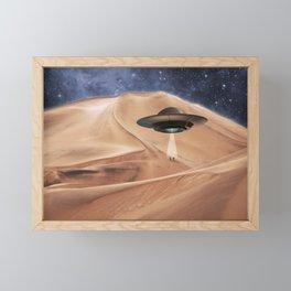 ALIEN DESERT ABDUCTION Framed Mini Art Print