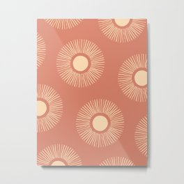 Sun Pattern - Dust Pink Metal Print