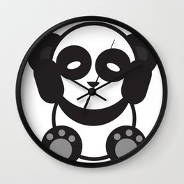Panda Mantra Wall Clock