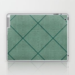 Stitched Diamond Geo Grid in Green Laptop & iPad Skin