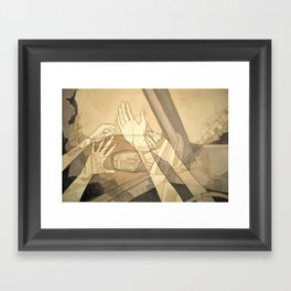 Moving Forward and Looking Back Framed Art Print