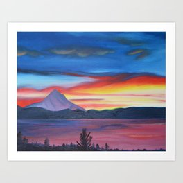 Our Side of The Mountain, Pacific Northwest Mountain Series Art Print
