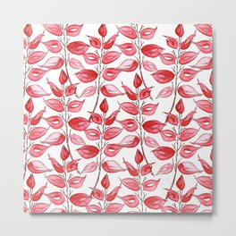 Red leaves by Gosia&Helena Metal Print