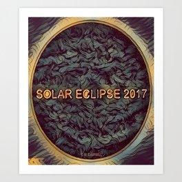 Solar Eclipse 2017Dark Art Print