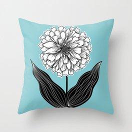 Zinnia Flower Throw Pillow