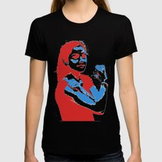 Feminism SMALL Womens Fitted Tee Black
