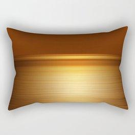 Sea at Sunset-Dark Gold Rectangular Pillow