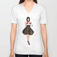 model V-neck T-shirts featuring Model by Marven RELOADED
