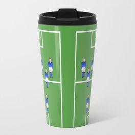Football Soccer sports team in blue Travel Mug