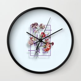 Flowers Bloom Botanicals Vintage Illustration Poster #3 Wall Clock