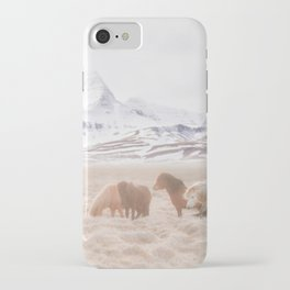 WILD AND FREE 3 - HORSES OF ICELAND iPhone Case