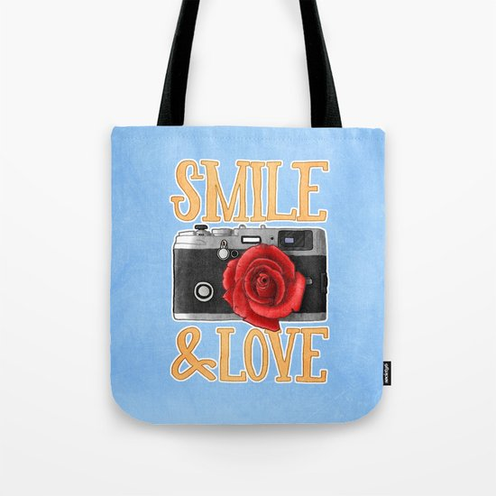 Smile and Love Tote Bag