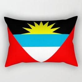Antigua and Barbuda country flag Rectangular Pillow