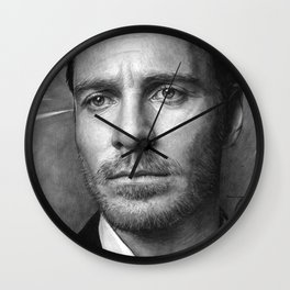 Michael Fassbender - Portrait Wall Clock