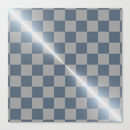 Blue Steel 8 by 8 Chess Board Canvas Print