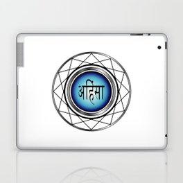 AHIMSA- non violence- typography in hindi means peace in Hindu,Buddhist and Jain Laptop & iPad Skin
