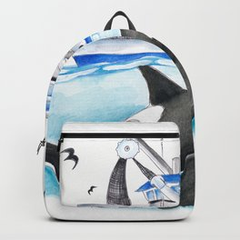 Orca And The Boat Backpack