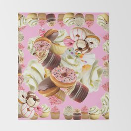 PINK & VANILLA PASTY INDULGENCE ART Throw Blanket