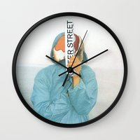 queer Wall Clocks featuring I`m on the queer street by Pilar Diamante