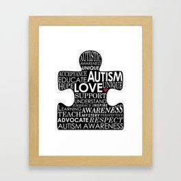 Autism Awareness Love Framed Art Print