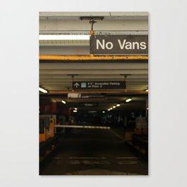 No Vans Canvas Print