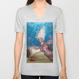 Mermaid! The Most Beautiful Of All Sea Unisex V-Neck