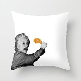 h u n g r y / e i n s t e i n Throw Pillow