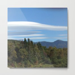 lenticular clouds in New Hampshire White Mountains Metal Print