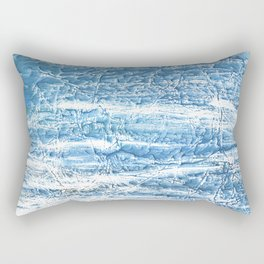 Steel blue nebulous watercolor texture Rectangular Pillow