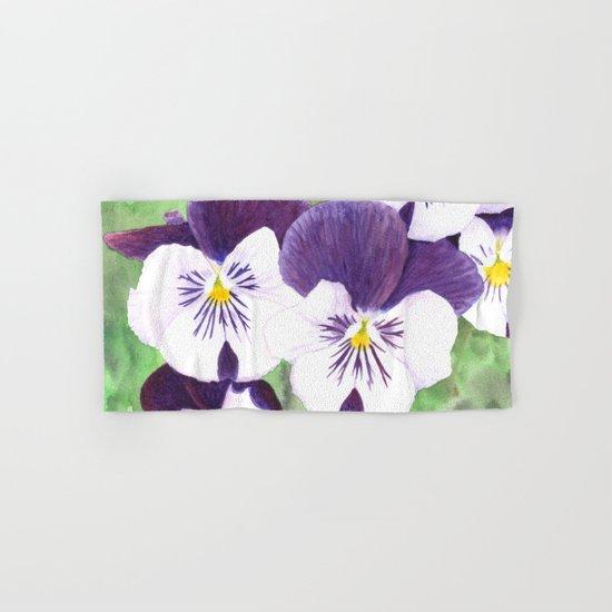Pansies flowers Hand & Bath Towel