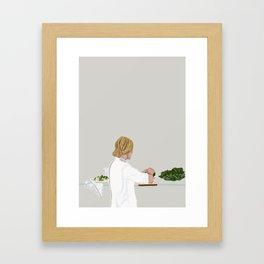 Dinning Table Framed Art Print