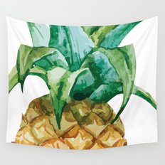Pineapple , tropical , hawaii , summer , fruit , Wall Tapestry