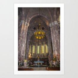 Basilica of Santa Maria, interior Art Print