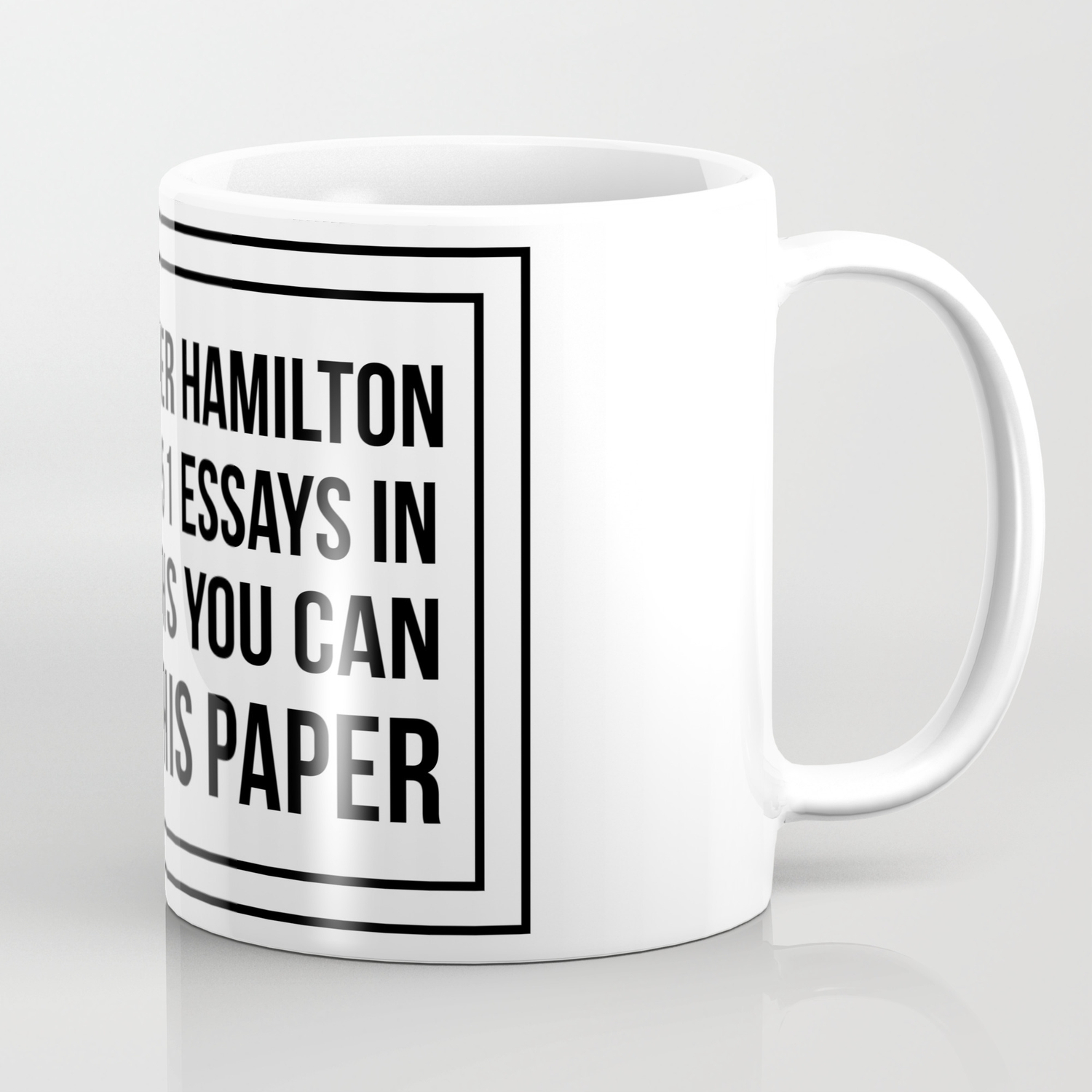 5331a00d35c If alexander hamilton can write 51 essays in 6 months you can finish this  paper Coffee Mug
