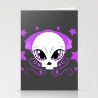 pastel goth Stationery Cards featuring Starstruck Pastel Goth by JadedZombieInk