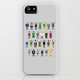 Pixel Supervillain Alphabet iPhone Case