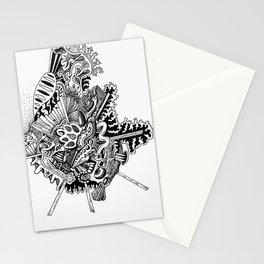 Line Work Doodle Stationery Cards