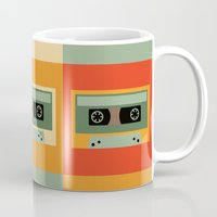 cassette Mugs featuring cassette by vitamin