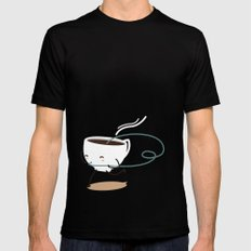 Seb, the cup of coffee MEDIUM Mens Fitted Tee Black
