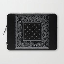 Black and Silver Bandana Laptop Sleeve