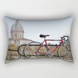 Lungotevere con Bicicletta Rectangular Pillow
