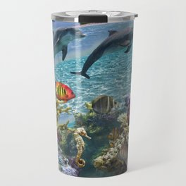 Coral Reef and Dolphins Travel Mug