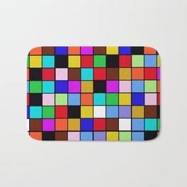 Checker Board Square Pattern Bath Mat