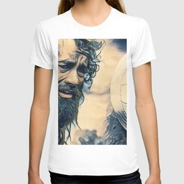 Cast Away Long Beard Survivor Alone Island Movie T-shirt