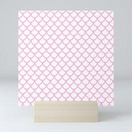 Scales (Pink & White Pattern) Mini Art Print