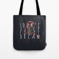 true detective Tote Bags featuring true detective 2 by Molnár Roland