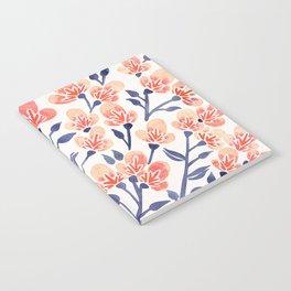 Cherry Blossoms – Peach & Navy Palette Notebook