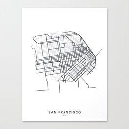 Streets of the San Francisco Bay Canvas Print