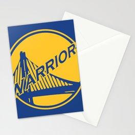 Golden State blue basketball logo Stationery Cards